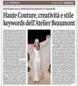3. Sfilata Onirica 21.05.2016 Torino Haute Couture, La Stampa